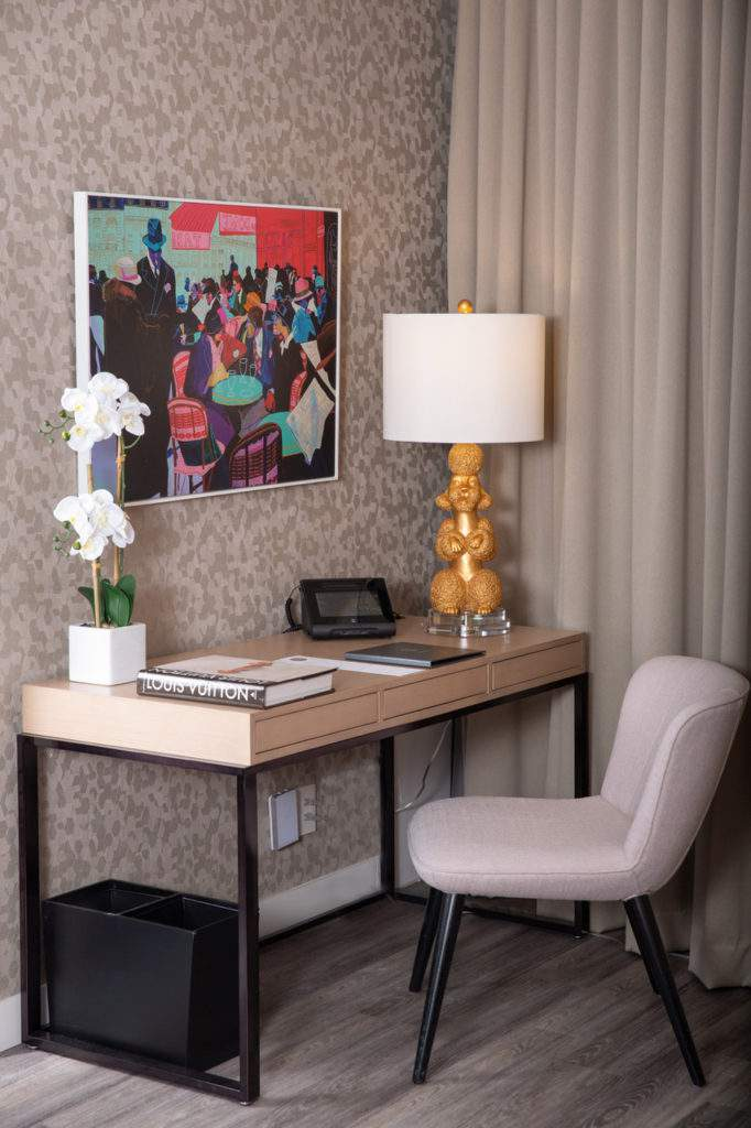 Room Desk with Ms. Poodle Lamp
