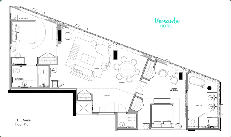 CHIL Suite Floorplan - Versante Hotel