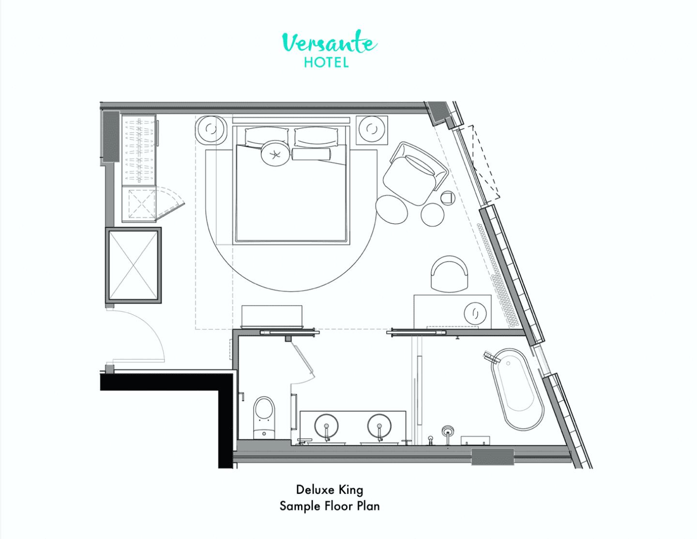 Deluxe King Room Floor Plan