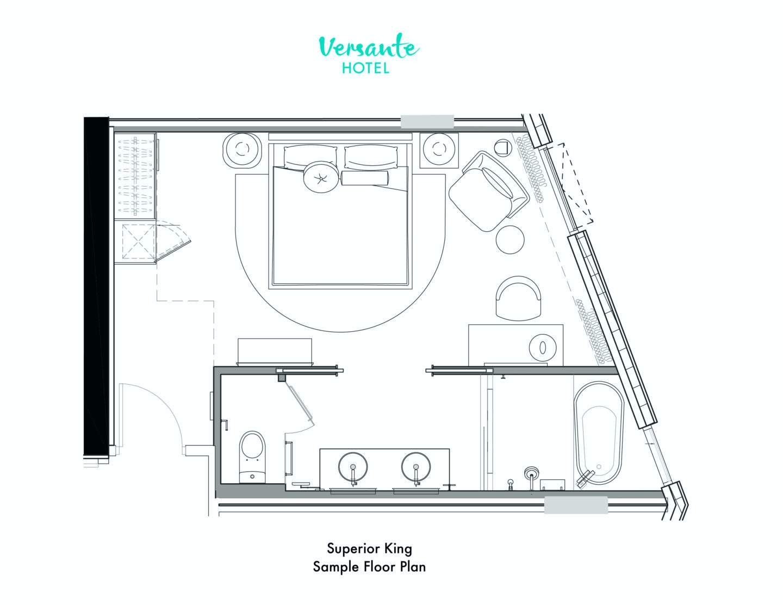 Superior King Room Floor plan