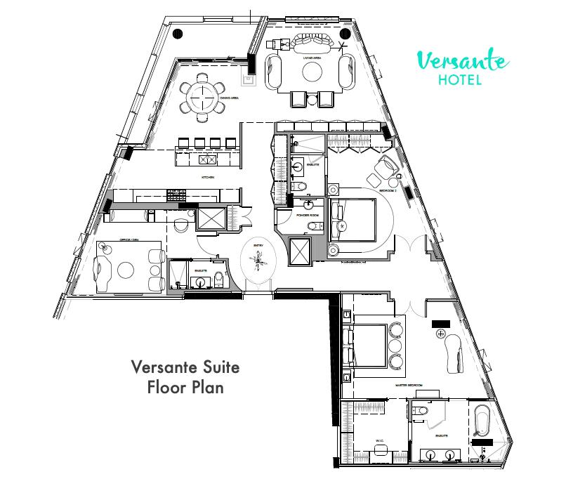 Versante Suite Floorplan - Versante Hotel