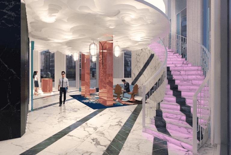 Versante Hotel Lobby Rendering
